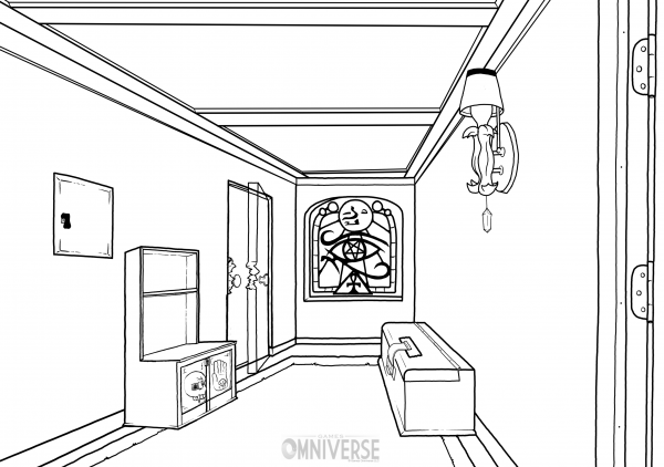 Hallway inks in development.